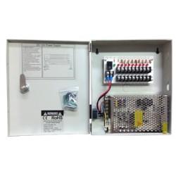 Alimentatore stabilizzato switch 12V-10A 9ch per telecamere, Bemax
