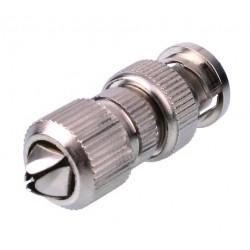 Connettore BNC, zinco-rame, conf. 25pz, Bemax