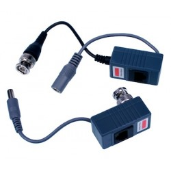 Balun Video passivo A/V (coppia), 200/300m,  Bemax