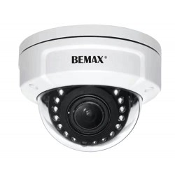 Telecamera Dome IP est. 2Mp, 12 led, 12M, PoE, Bemax