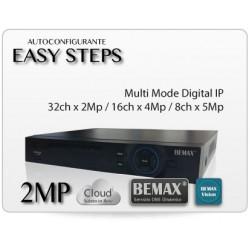 NVR 32*2MP/16*4MP/8*5MP, VGA-HDMI, 2xUSB,  Bemax