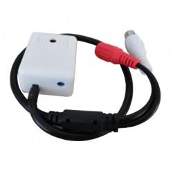 Microfono per DVR cablato RC, 100mq, trimmer, Bemax