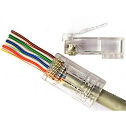 Modular EZ Plug CAT5, 8P8C schermato, 100pcs, Bemax