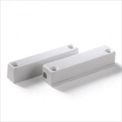 Contatto magnetico rettangolare in plastica ABS a vista.