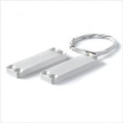 Micro contatto magnetico ultrapiatto rettangolare in plastica ABS a vista.